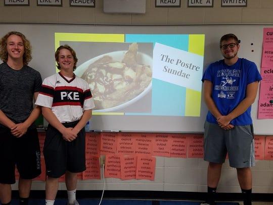 Pewaukee High School students (from left) Samuel Ramlow,