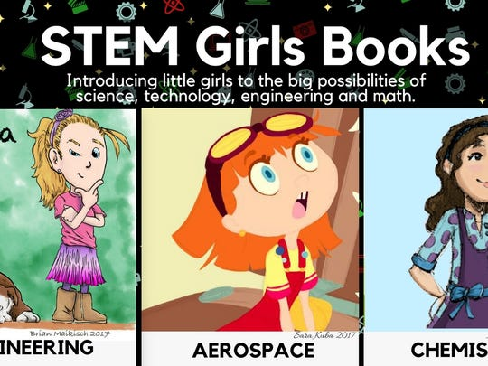 STEM Girls Books illustration used for Kickstarter campaign.