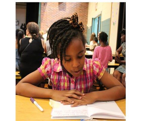 Joy Hart sharing her Poetry Book