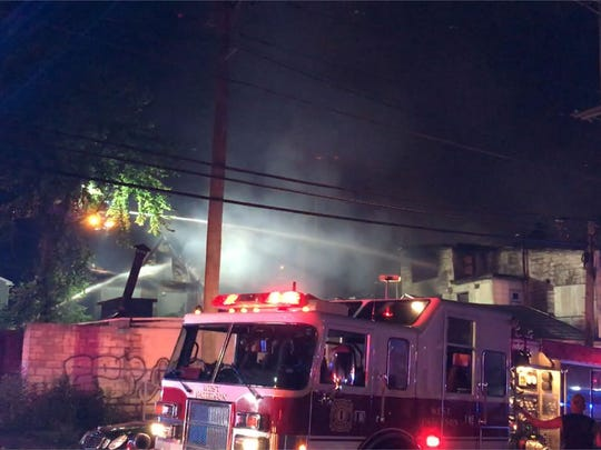 Firefighters battled a blaze on North 7th St in Paterson