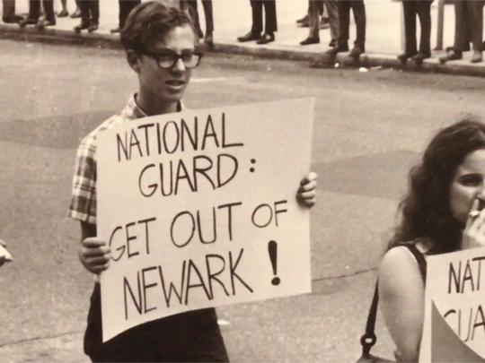 "Protests against the National Guard during the ""Newark Rebellion"" in 1967."
