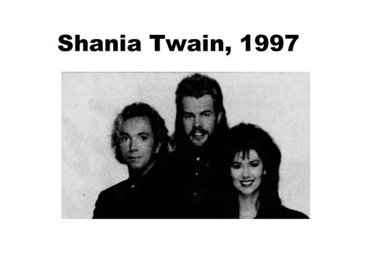 Shania Twain with Toby Keith and John Brannen in 1997