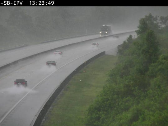 Conditions on Florida's Turnpike in Martin County July