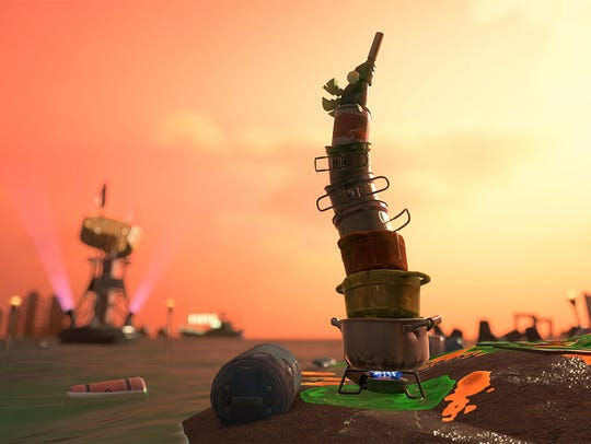 The Stinger in Splatoon 2's Salmon Run mode.