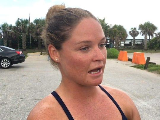 Brevard County lifeguard captain Ashley Nolan talks