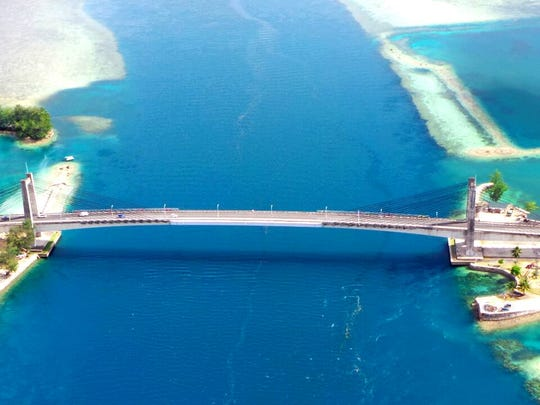 The now iconic Palau-Japan Friendship Bridge, which connects Koror and Babeldaob. The Republic of Palau as of Monday still has no confirmed cases of COVID-19.