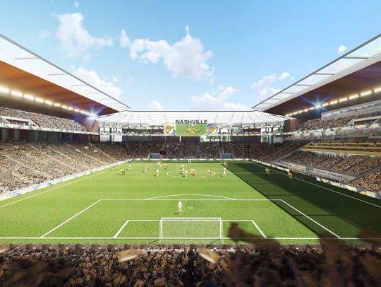 The proposed Major League Soccer stadium at The Fairgrounds