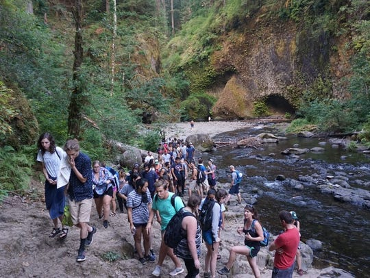 Over 150 hikers were stranded on the Eagle Creek Trail