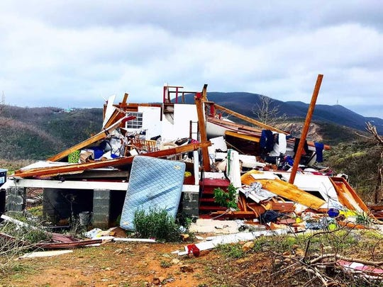 Former Avon resident Joshua Kikendall photographed the devastation caused by Hurricane Irma on the U.S. Virgin Islands.