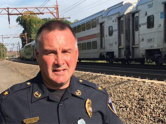 Denville Police Chief Christopher Wagner recalls his scary encounter with a train.