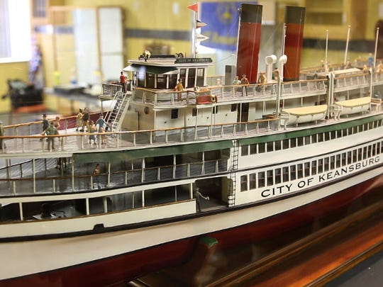 A model of the old Keansburg ferry on display at the Keansburg Historical Society.