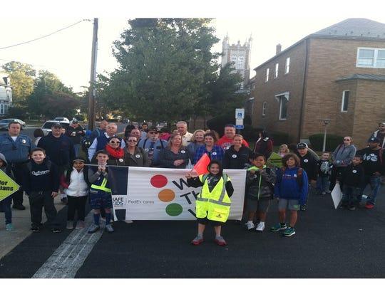 International Walk to School Day saw Dunellen students