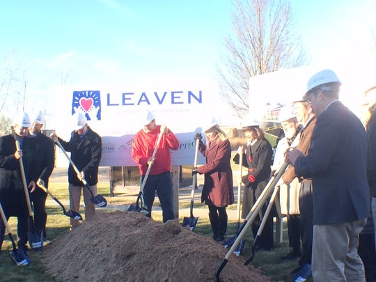 Community leaders broke ground on a new LEAVEN building