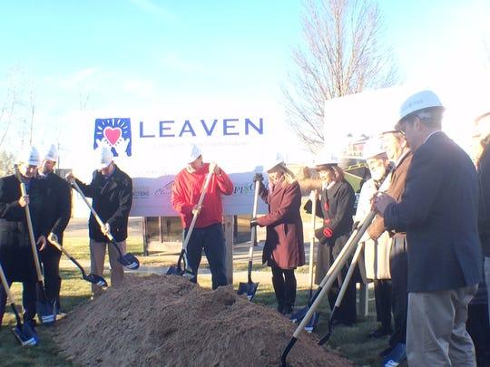Community leaders broke ground on a new LEAVEN building Wednesday in Menasha.