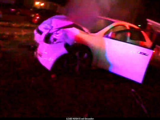 Still from EPD body cam footage of fatal police chase