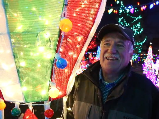 Bill Werner has been setting up his elaborate Christmas display for the past 13 years.