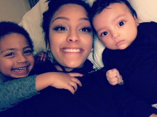 Raelynn Taylor of Lansing reached a custody agreement with former boyfriend, NBA's Bryn Forbes. In this undated photo from 2017, Taylor is with her sons Carter, left, and Leo, right.