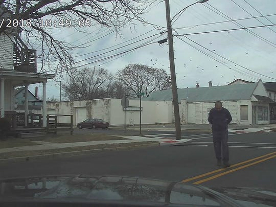A still image from Millville Police dashcam footage of Edward C. Gandy Jr. before being shot on January 22.
