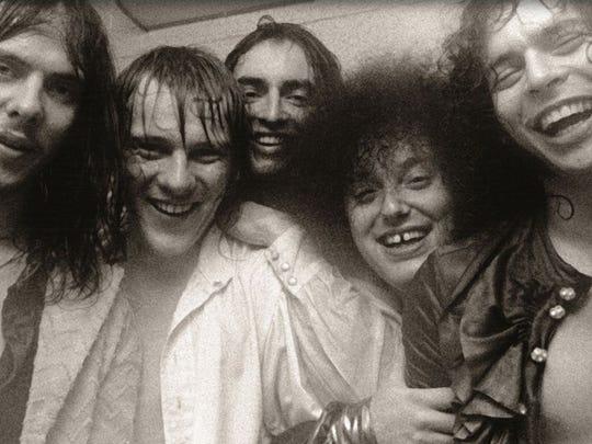 The MC5, left to right: Fred (Sonic) Smith, Dennis Thompson, Michael Davis, Rob Tyner and Wayne Kramer.