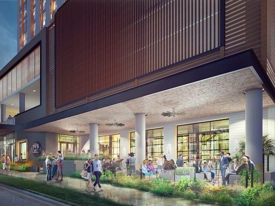Margaritaville Nashville Hotel rendering