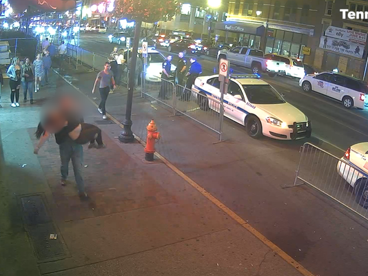 Broadway security footage