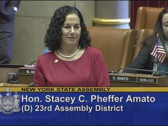 Stacey Pheffer Amato, a state assemblywoman from Queens,