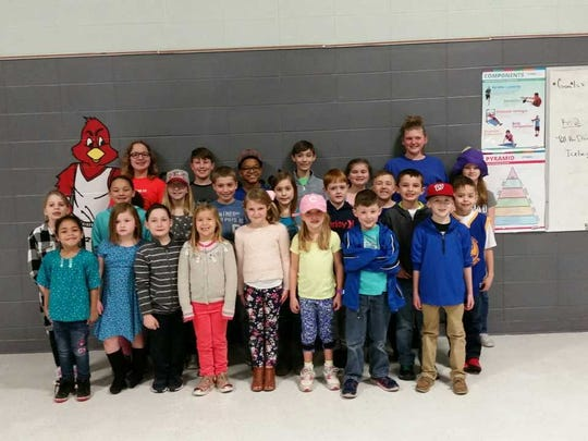 East Heights Elementary's february leaders of the month were, front row from left: Nahla Gumbs, Karlee Nelson, Jaxon Robinson, Piper Thompson, Livia Dixon, Abbi Kate Tyler, Cohen Link and Kyler Hazelwood. 2nd row: Hadley Ranes, Jersey Gardner, Annabelle Wilson, Kaleb Tapp, Vailynn Buckboro, Tyler Lindsey, Colton Gish, Connor Murray and Kaleb Elder. Back row: Darby Salisbury, Jonathan Kidd, Ayden Wilson, Nate Gold, Gracie Wilkerson, Maddie Fambrough and Ally Reed.
