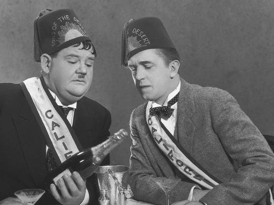 """Sons of the Desert"": Oliver Hardy, Stan Laurel"