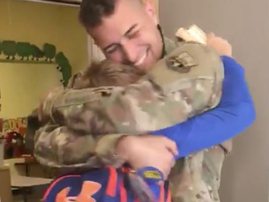 After school son surprise