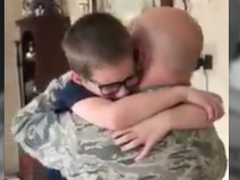 Birthday surprise from Air Force dad turns sad tears into happy ones