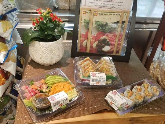 Fresh sushi at Nicolas