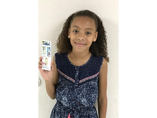 Fifth grader, Melanie Leyden  is a runner up  in the