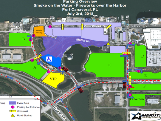 Port Canaveral Revamps Parking Road Patterns To Cut Fireworks Traffic