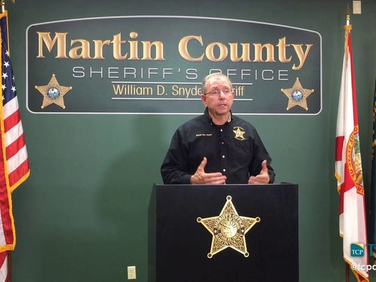 Sheriff Snyder at a briefing in 2016