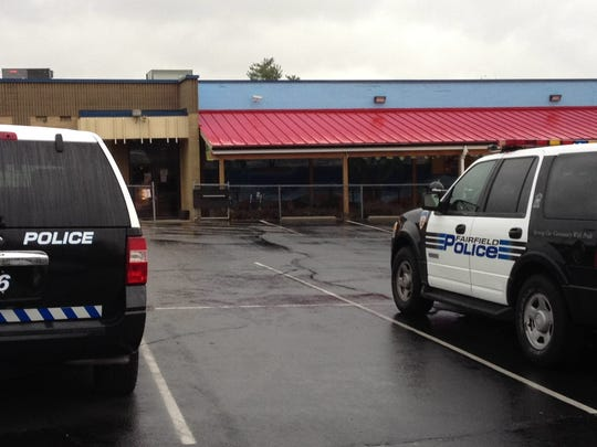 Fairfield Police outside of Northwest Lanes