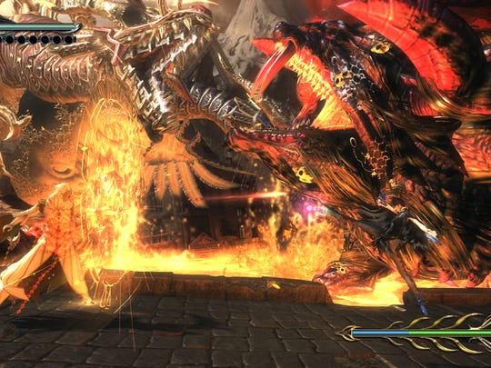 Bayonetta 2 features fast-paced action built on bullet-time