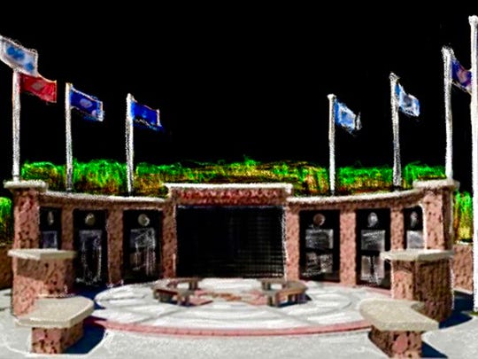 Artist's rendering of the Nocona Military Heritage Plaza that will be located beside the Nocona Veterans of Foreign Wars Post No. 8558.