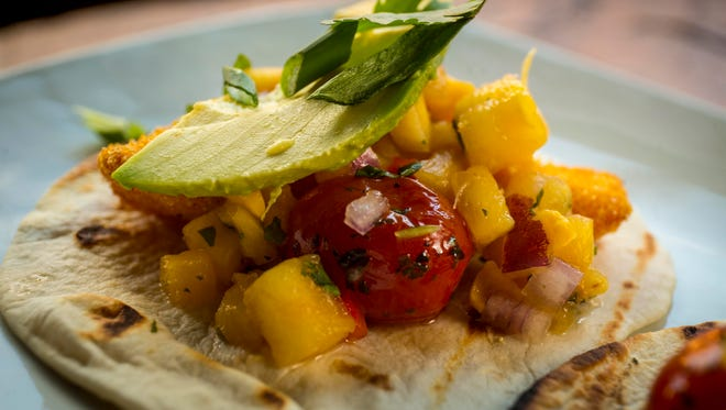 Roca at  208 Court Ave, Des Moines - Walleye fish tacos