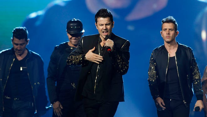 New Kids on the Block perform during The Total Package Tour at Talking Stick Resort Arena in Phoenix on Friday, May 26, 2017.