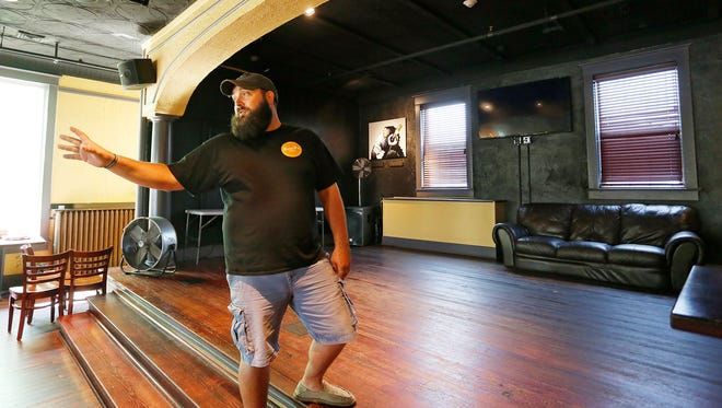 """Robert Turner, operational manager of Bobby T's Campus, is hoping for a big turnout for a music video being shot on the upper level of the bar known as """"The Stage."""""""
