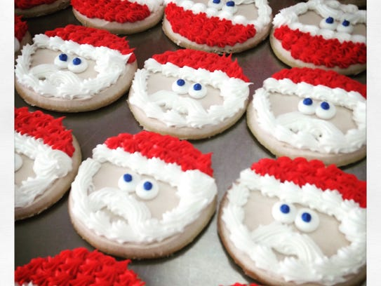 Iced Santa Claus cookies from Nan's Nummies in West