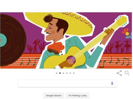 Pedro Infante's Google Doodle