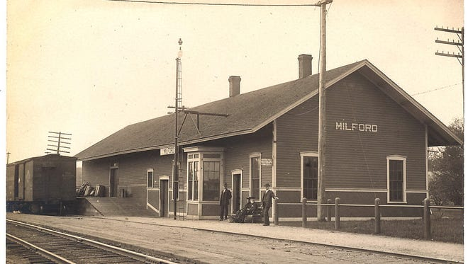 Milford's historic train depot as it looked when it was in use