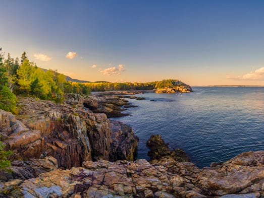 The Acadia All-American Road runs 40 miles along the