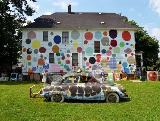 The Dotty Wotty House at the Heidelberg Project. The
