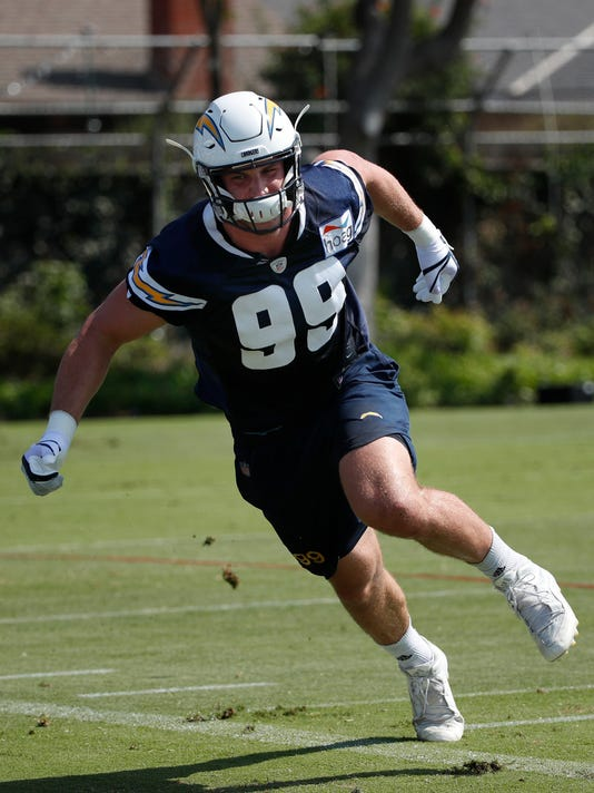 Chargers DE Bosa not practicing, questionable for opener