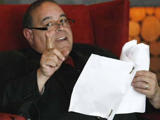 Joseph Gannascoli reads a screenplay in Asbury Park in this 2012 file photo.