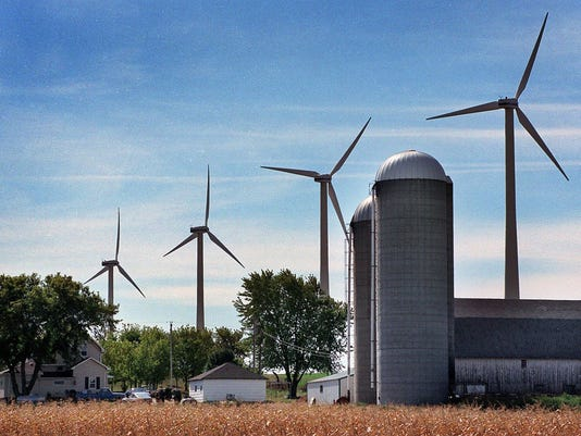 Wind Turbines near Algoma, Wisconsin