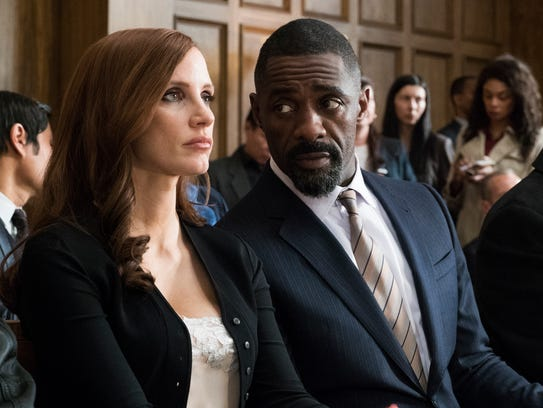 Jessica Chastain (left) and Idris Elba have trouble