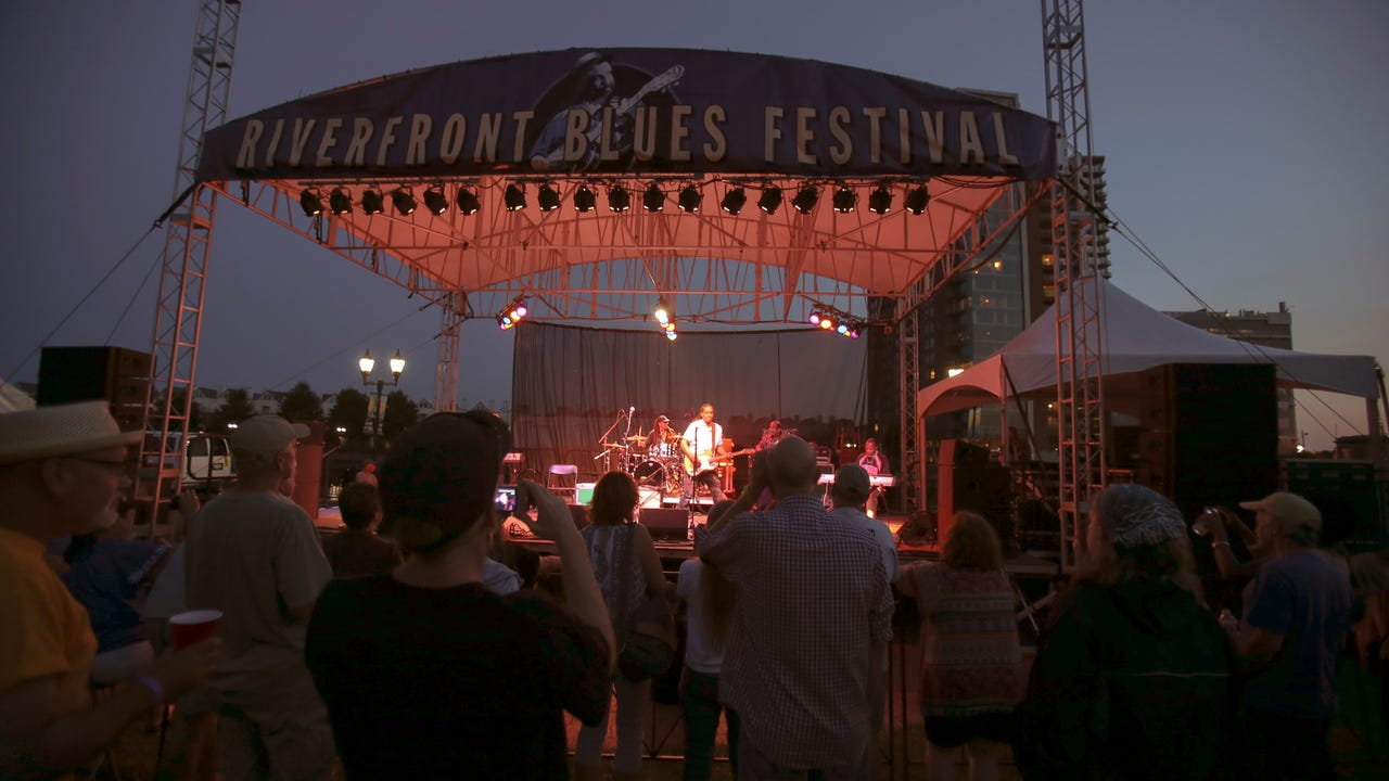 The Riverfront Blues Festival celebrated its 20th year this weekend.